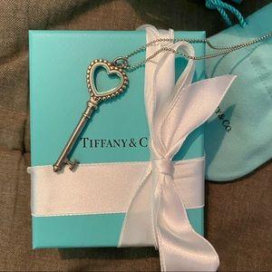 Tiffany Beaded Heart Key Necklace